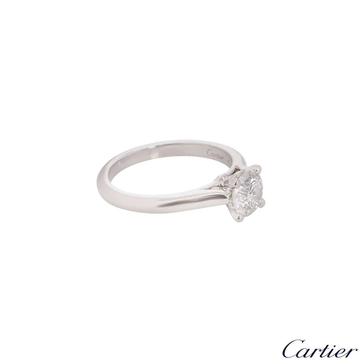 Cartier 1895 Platinum Diamond Ring 1.10ct F/VS1 XXX N4162955